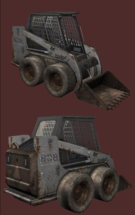 Качественная текстура на low-poly модели мини-трактора