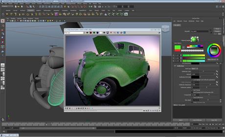 Интерактивное изменение материалов в VRay RT для Maya