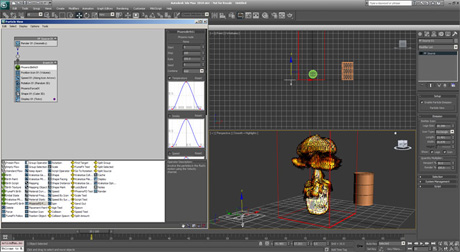 Совместная работа Phoenix FD и Particles Flow в 3ds Max