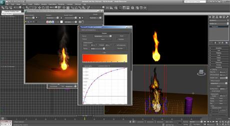 Симуляция пламени VRay 2 и Phoenix FD