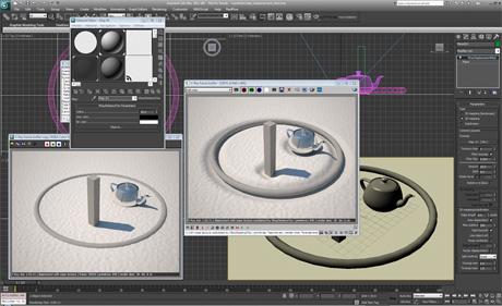 Текстура VRayDistanceTex в V-Ray 2.0 контролирует дисплейсмент в зависимости от расстояния до объектов