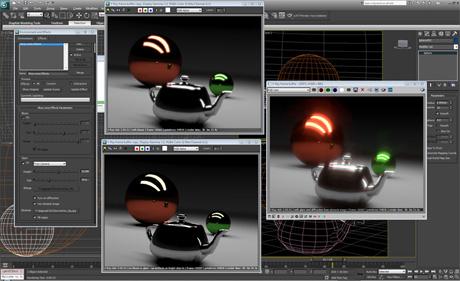 Эффект VRayLensEffects в V-Ray 2.0 рендерит эффекты на линзах объектива