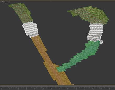 3d-земля с каменными ступеньками