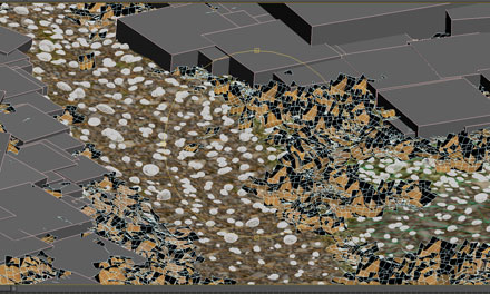 Разбрасываем 3d-листву по 3d-земле