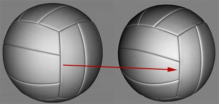 Изменение формы канавок на волейбольном мяче