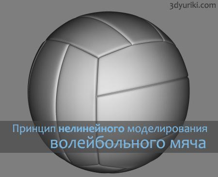 Принцип нелинейного моделирования волейбольного мяча