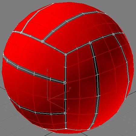 Выделяем полигоны на мяче не в углублениях