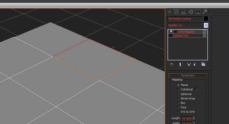 Делаем планарную развертку текстурных координат