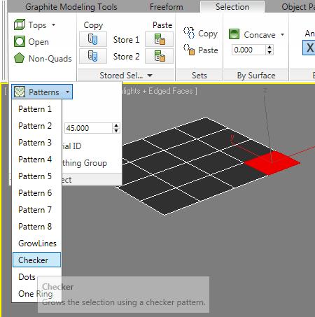 Выделение узоров из полигонов 3ds max