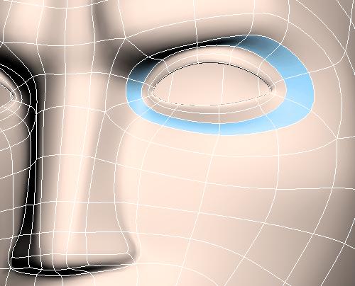 Полигональный лупик вокруг глаз