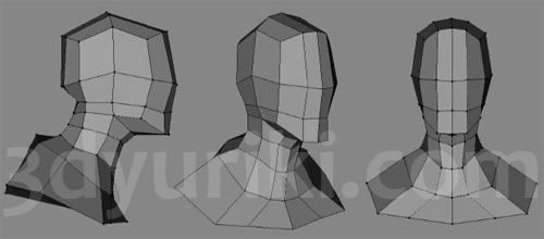 Топология базовой головы персонажа