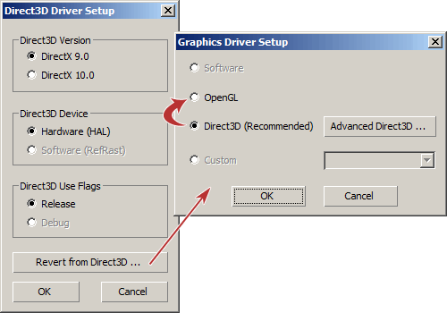 Изменяем графический режим в 3ds Max с DirectX на OpenGL