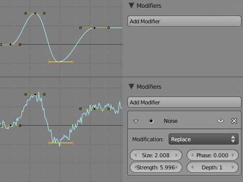 Правка анимационных F-кривых