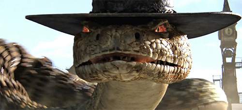 Создание рига змеи в мультфильме Ранго