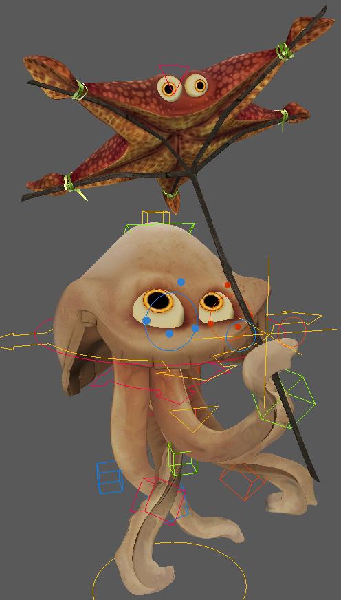 Манипуляторы для анимации 3D-персонажа Медуза в Maya