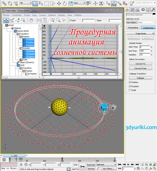 Создание солнечной системы в 3ds Max