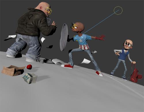 3D сцена капитана Америка во вьюпорте 3ds Max