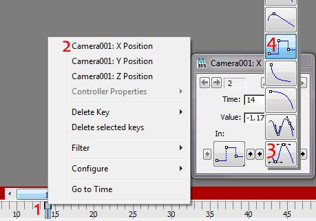 Изменение типа анимационного ключа в 3ds Max