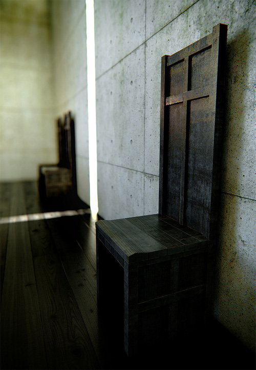 3D стул в церкви света