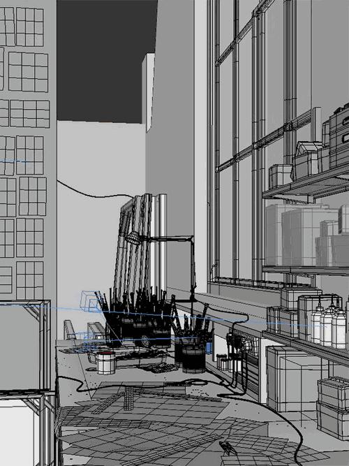 Художественная мастерская скриншот 3D сцены из 3ds max