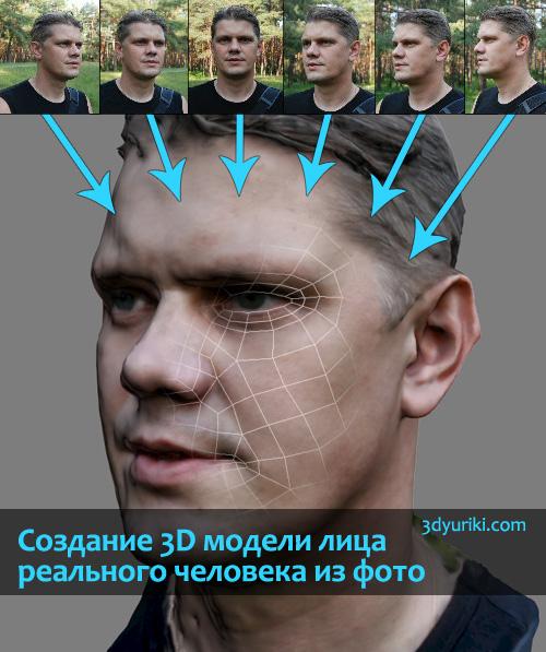 Создание 3D модели лица настоящего человека из фотографий