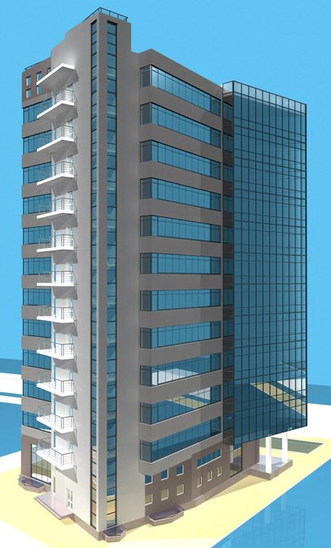 Многоэтажное 3D-здание, первый заказ за деньги