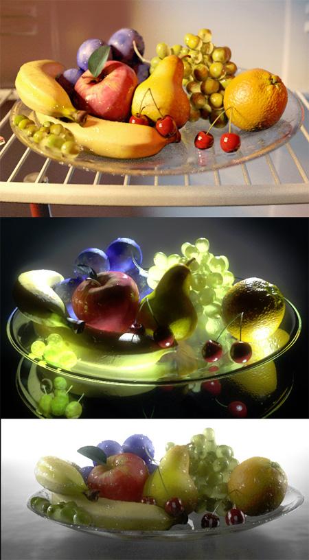 3D фрукты adasd