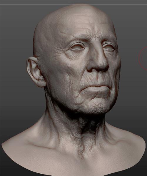 3D Пациент в сермати в Zbrush