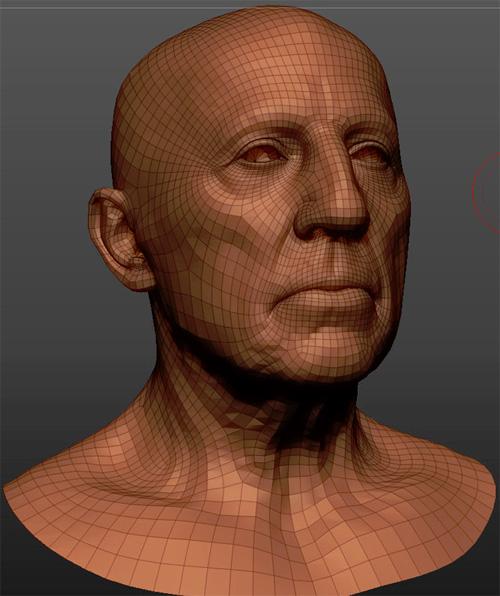 Сетка (wireframe) реалистичного 3d мужчины пациента