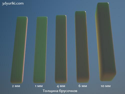 Влияние оттенка цвета в параметре Scatter color и scatter radius VRayFastSSS2 материала