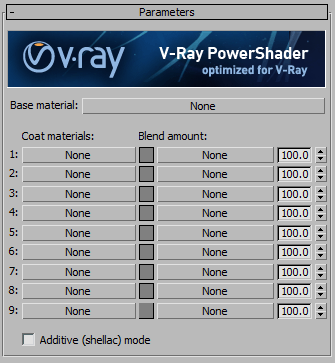 Настройки VRayBlendMtl