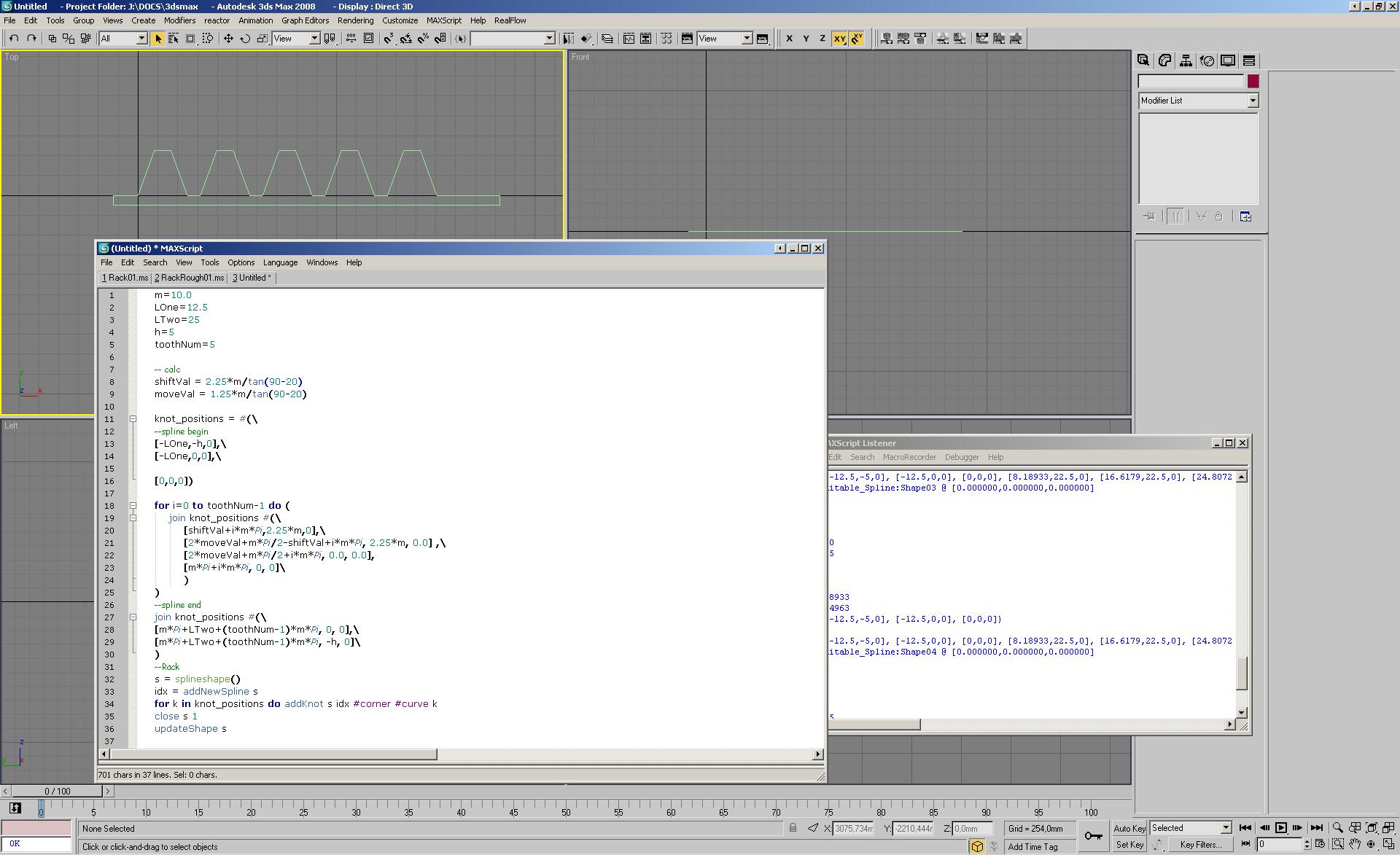Вторая версия скрипта по созданию шестерёнки в 3ds Max