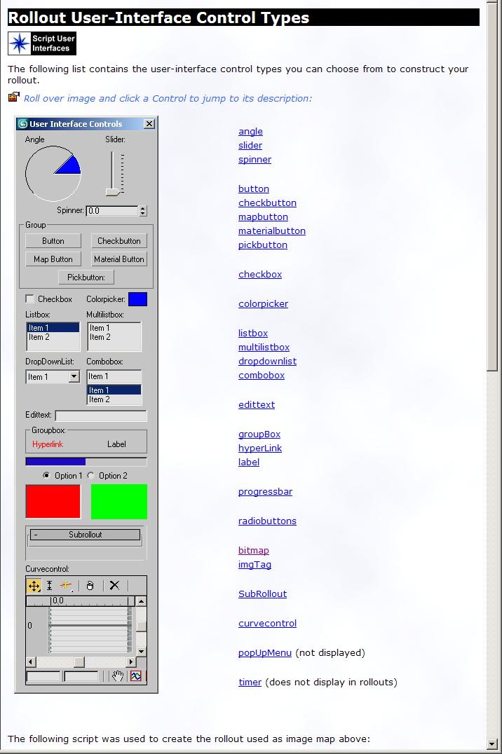 Помощь по созданию графического интерфейса скриптом в 3ds Max
