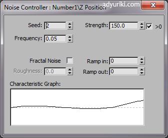 Настройки контроллера шума в 3ds Max