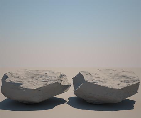 рендер реалистичных 3D-камней