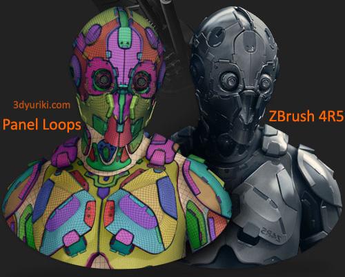 Panel Loops внутри нового ZBrush 4R5