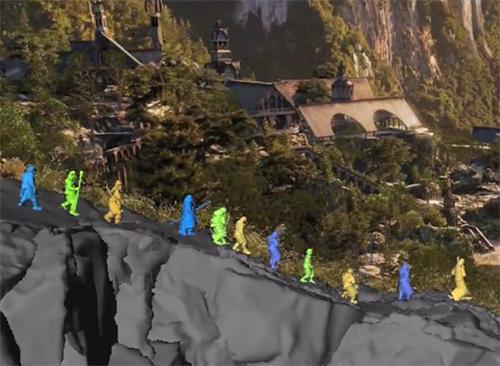 3D двойники всех главных персонажей фильма Хоббит, аниматик
