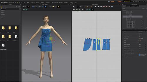Новый графический интерфейс Marvelous Designer 3