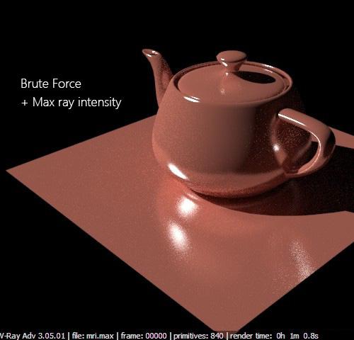 Brute Force в включенной опцией Max ray intensity