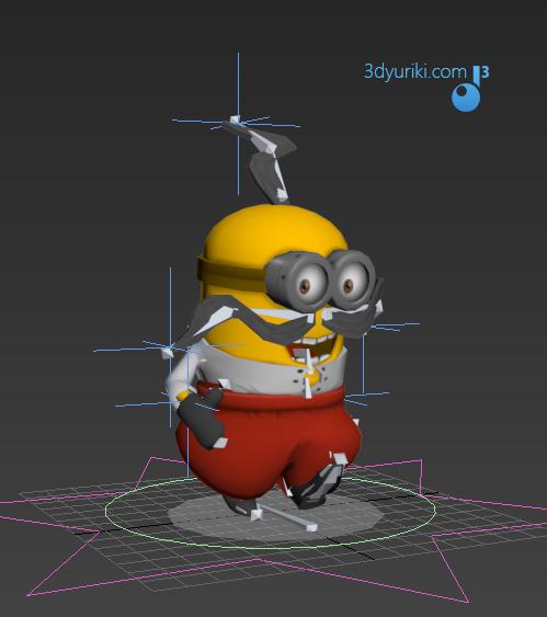 Миньон козак, 3d персонаж для игры Нереальные Перегонки 2