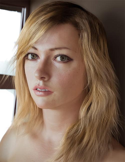 Улучшенный рендер сексуальной блондинки