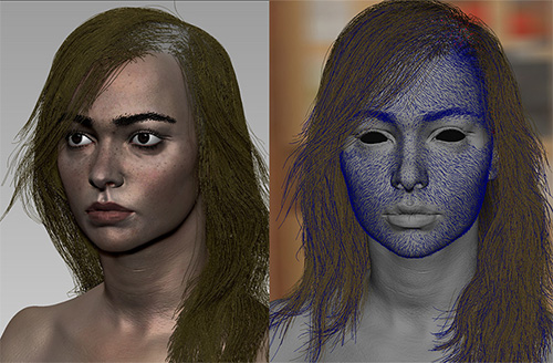 Скриншоты 3D блондинки из Maya и ZBrush