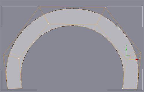 Подогнали форму полигонов под сплайны
