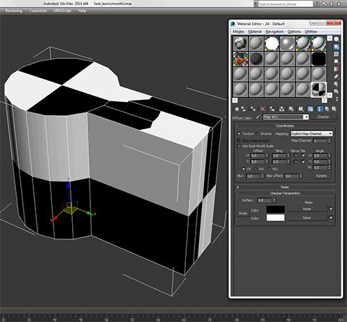3D модель с отображаемой на ней текстурой