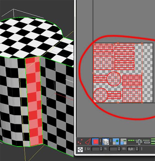 Результат автоматической развёртки в 3ds Max