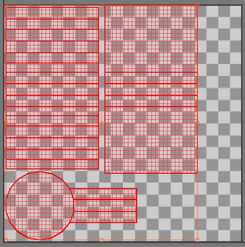 Максимально занимаем квадрат UV частями развёртки