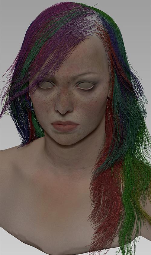 3D волосы с помощью Fibermesh в ZBrush