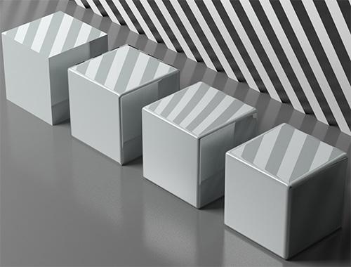 Кубик ориентир для разных механизмов сглаживания