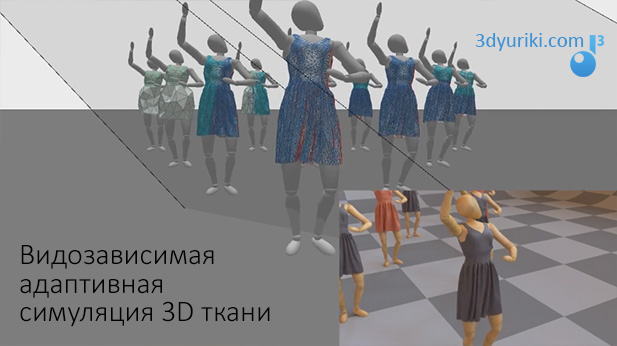 Подстраиваемая симуляция 3D ткани, которая зависит от близости камеры