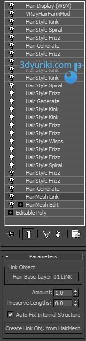Модификатор HairMesh Link